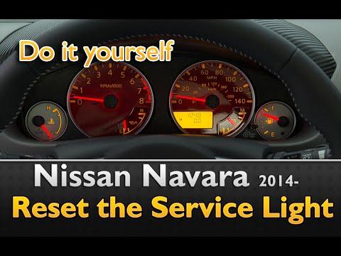 Nissan Navara 2014- Service Light Reset Guide