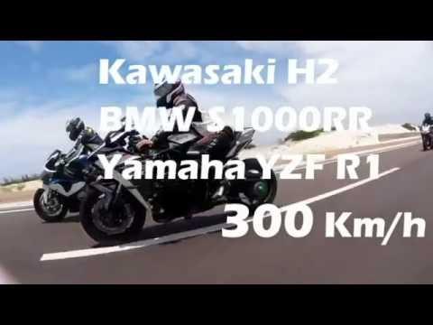 Đoàn moto khủng chạy 300km/h tại Bình Thuận - Kawasaki H2, ZX-10R, R1, BMW S1000RR, CBR 1000RR