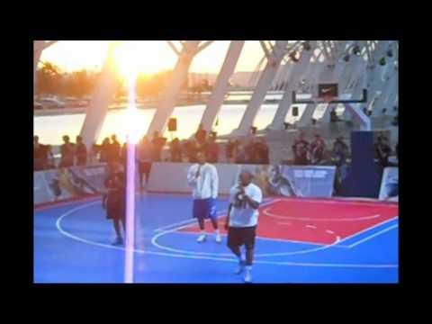 Kobe Bryant And Vassilis Spanoulis At The Athens World Basketball Tour