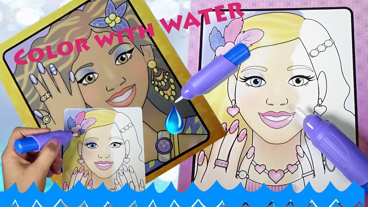 Barbie Coloring Book Using Only WATER
