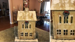 Painted Christmas House Village Lantern DIY 2018