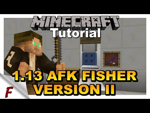 ✅ Minecraft 1.13 AFK Fish Farm MK II Tutorial Video Easy To Build  Server Friendly