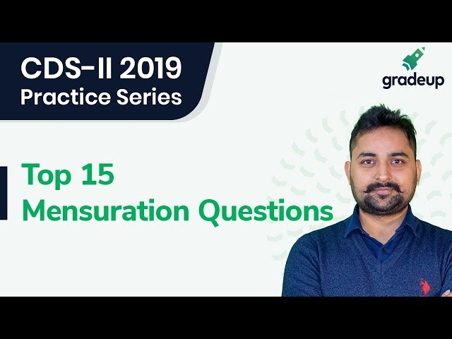 Top 15 Mensuration Questions with Randhir Singh || CDS-II 2019 (Part-2)