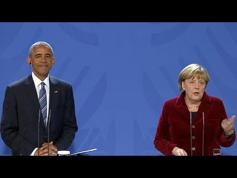 President Obama and German Chancellor Angela Merkel hold joint press conference