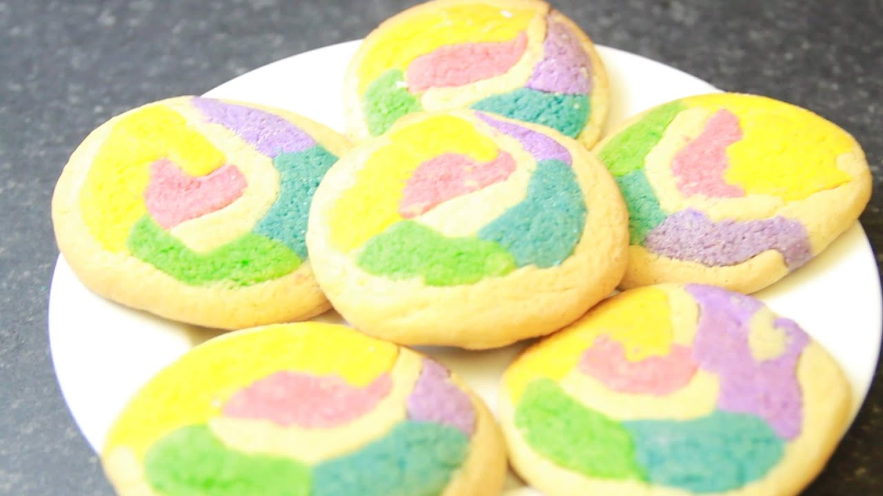 Rainbow / Gay Pride Swirl Pinwheel Cookies Recipe - YouTube