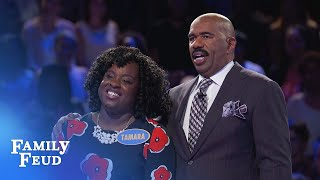 The Browns play Fast Money!   Family Feud