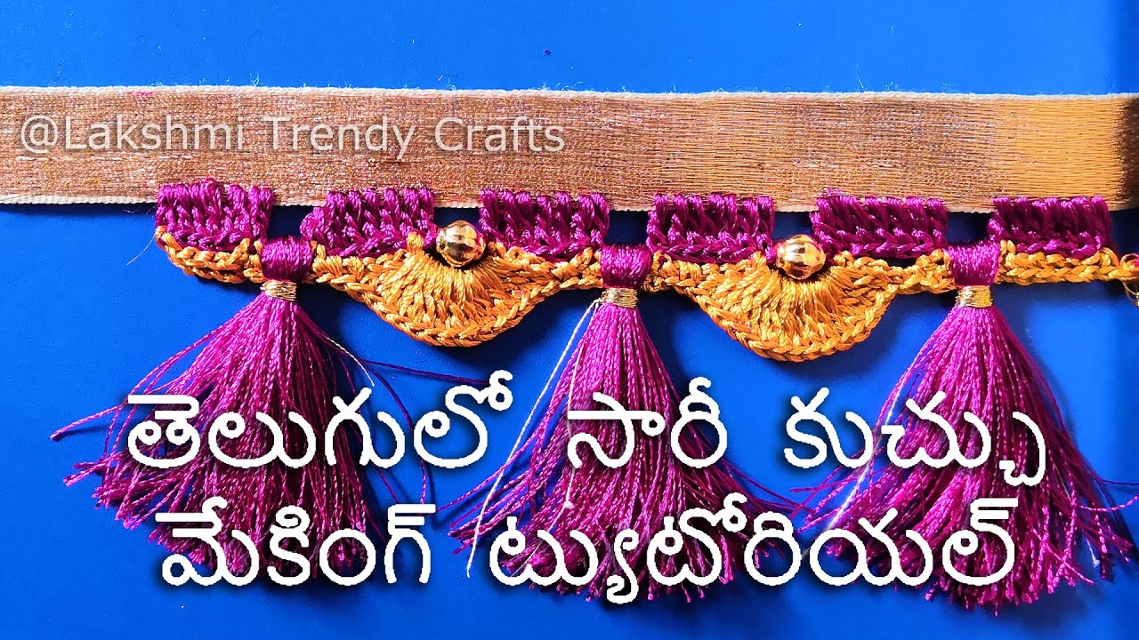 Download Saree Kuchu/ Krosha/ Crochet With Beads Making Tutorial in Telugu