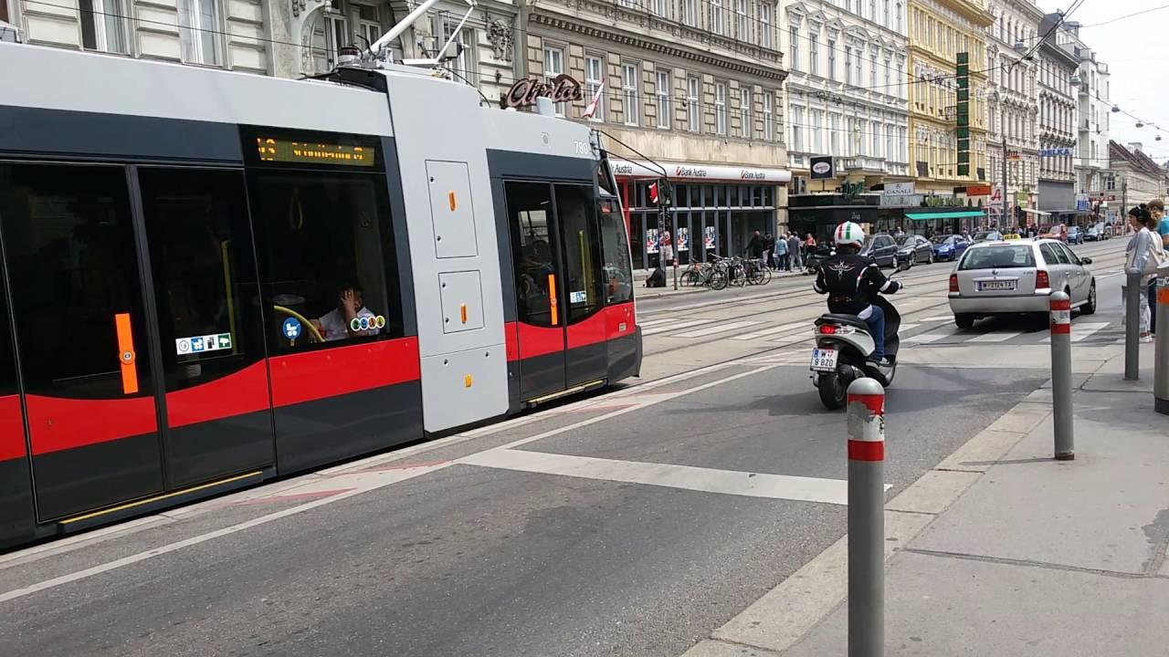 Straßenbahn Linie 43 Skodagasse In Wien1 Youtube