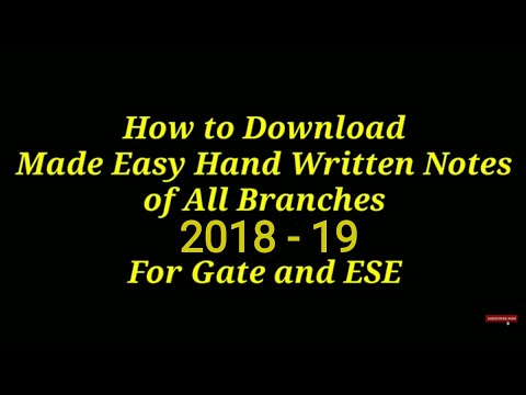 How To Download Engineering Hand Written Notes, 2017-18 For Gate And ESE , For All Branches