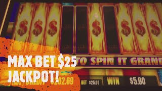 SPIN IT GRAND MAX BET $25 JACKPOT HANDPAY!!!!