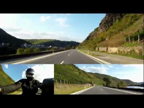 Enjoy the beautiful Mosel - TRUE 3D - GoPro Ride - BMW K1200r