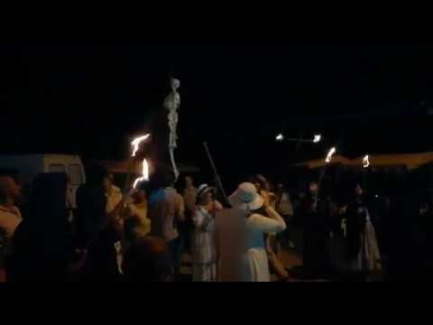 Así foi a queimada popular da Feira Indiana de Santaballa
