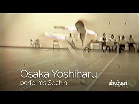 Osaka Sensei performing Sochin Kata