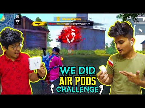 FREE FIRE || WE DID AIR PODS CHALLENGE IN RANK MATCH DUO VS SQUAD || RICH GAMEPLAY, LIVE REACTION