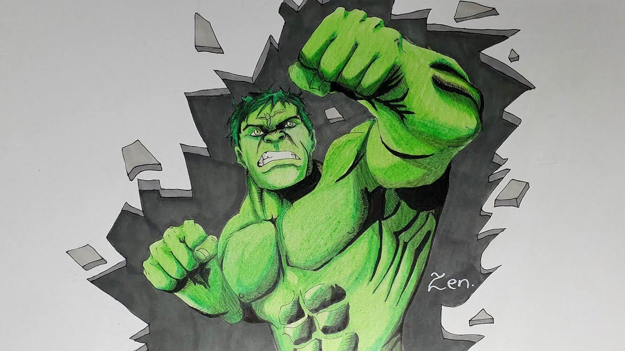 Dessin De L Incroyable Hulk Marvel Speed Drawing