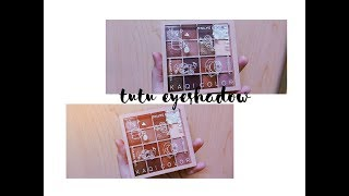 TUTU Kaqi Color Eyeshadow Palette tông đào dupe Mood Recipe 802