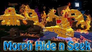 Minecraft | MORPH HIDE AND SEEK - LUCKY BLOCK MOBZILLA'S! (Godzilla, Lucky Block, Mobzilla)