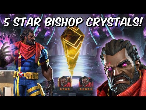 5x Grandmasters 5 Star Bishop Crystal Crystal Opening! - Marvel Contest Of Champions