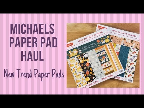 Michaels Paper Pad Haul: New Trend Paper Pads: Spiced Pumpkin and Llama Love