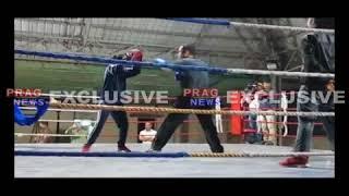 MP Gaurav Gogoi in Boxing ring | Gaurav Gogoi vs Female Boxer