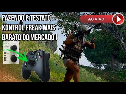 PUBG XBOX ONE AO VIVO - FAZENDO E TESTANDO O KONTROL FREAK QUASE DE GRAÇA