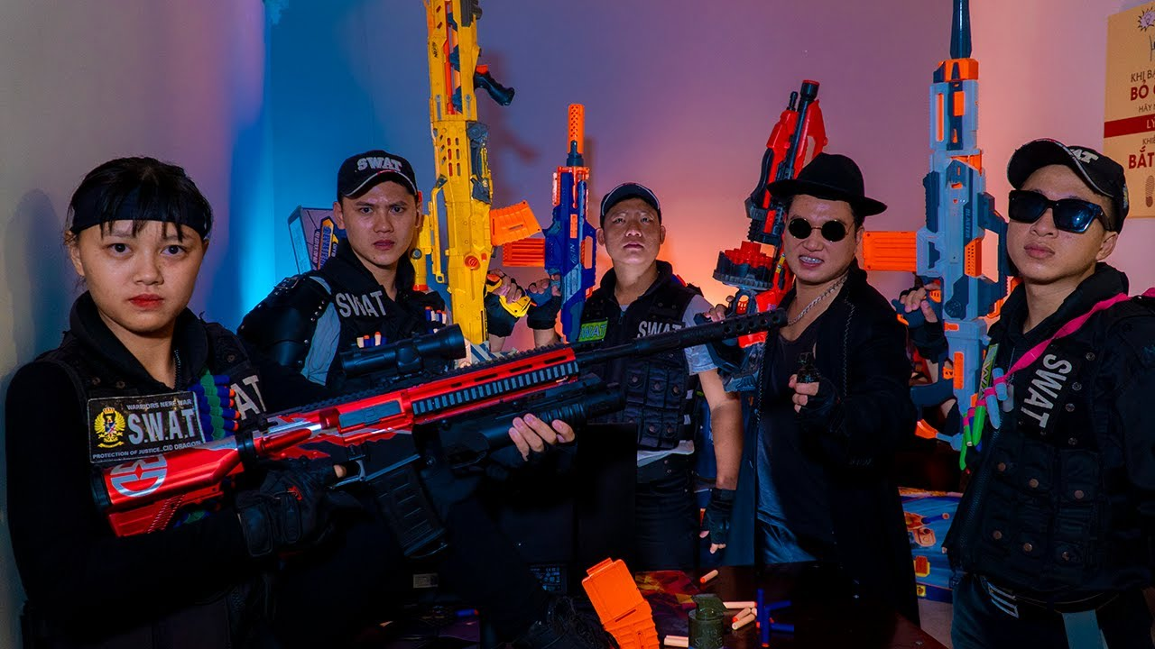 LTT Nerf War : Special Task SEAL X Warriors Nerf Guns Fight Gangs Dr.Lee Crazy Catch Boss