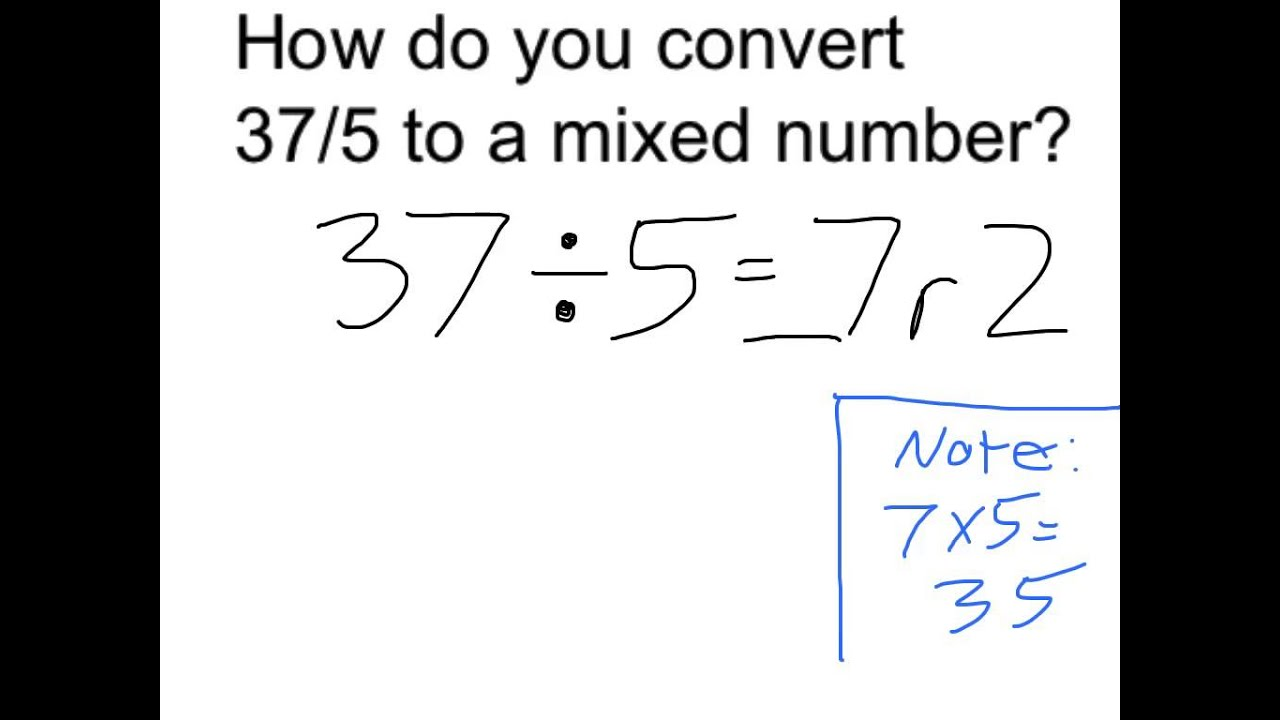 Convert 37 5 To Mixed Number