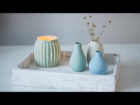 Holzkisten und Glas im Shabby-chic Look - Marabu mit YouandIHeartDIY (subtitled)