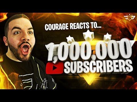 COURAGE REACTS TO ONE MILLION SUBSCRIBERS! (Fortnite: Battle Royale)