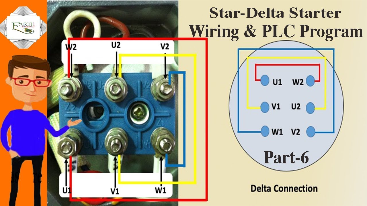 Star Delta Starter Wiring Plc Program Part 6 Plc Star Delta Wiring Motor Youtube