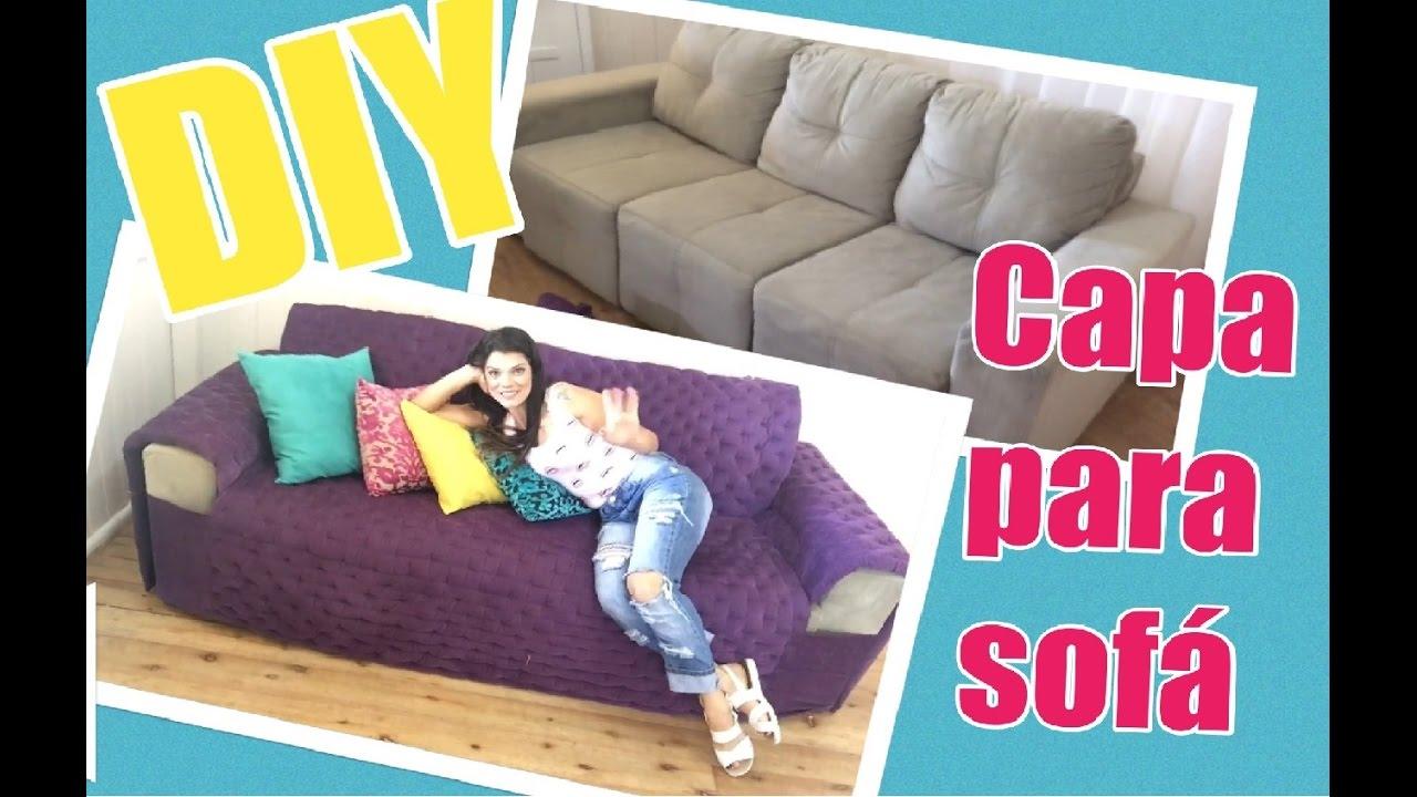 Diy Como Fazer Uma Capa De Sofa Youtube