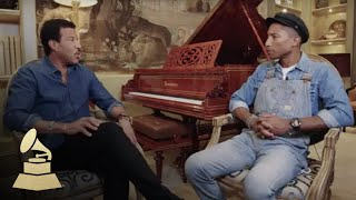 Lionel Richie and Pharrell Williams Interview | 58th GRAMMYs