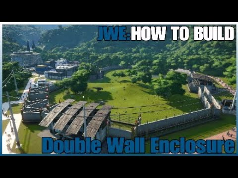 Jurassic World Evolution Build - Double Wall Enclosure