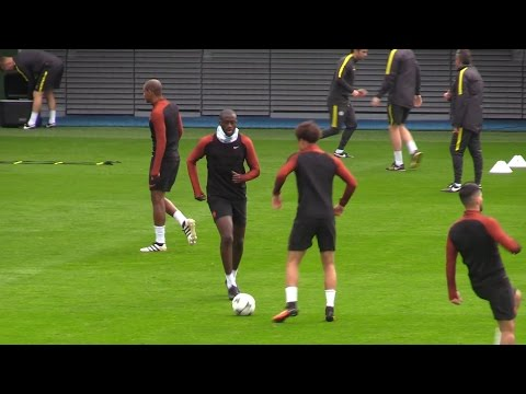 Manchester City Train As They Prepared For Champions League Clash With Celtic - Yaya Toure Included!
