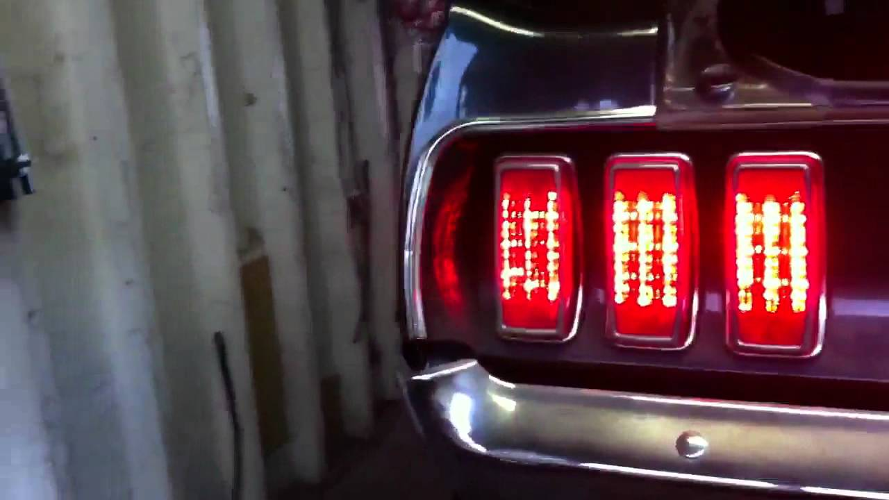 1969 mustang led tail conversion with indicator