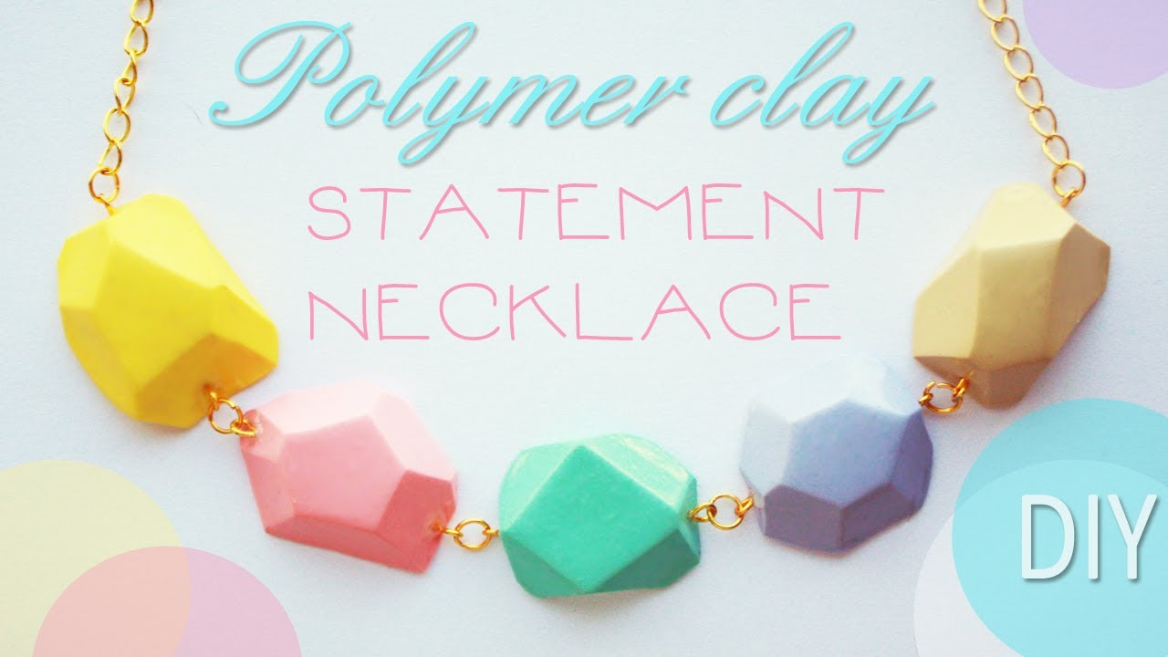 Polymer clay statement necklace tutorial youtube aloadofball Choice Image