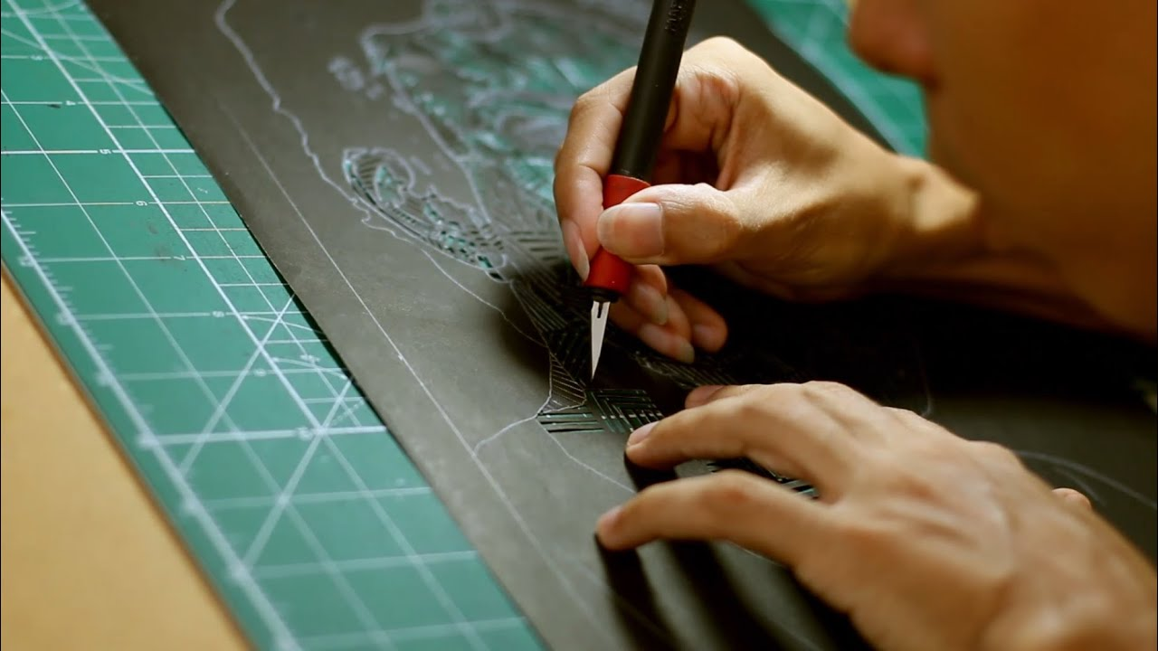 Papercraft Thiago Fernandes - Autorretrato - Jianzhi / Papercut