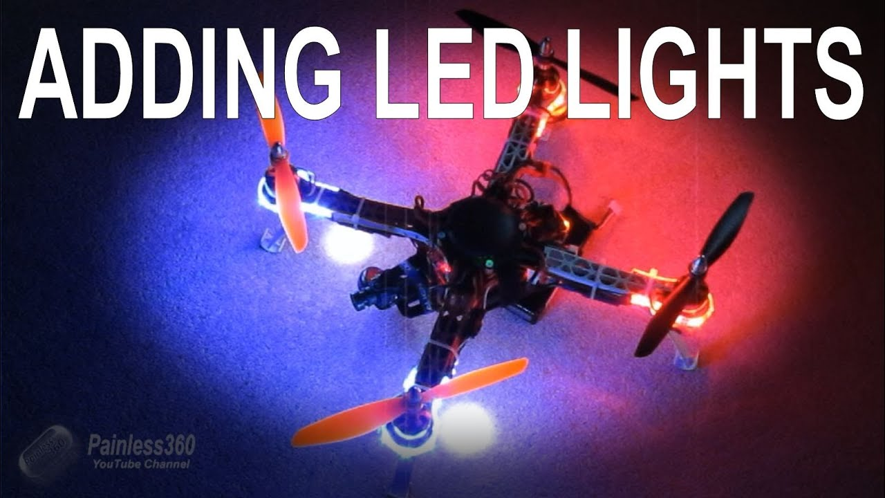 how to install led light strips 5050 and 3528 class easily to your quadcopter helicopter [ 1280 x 720 Pixel ]