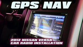 NISSAN VERSA GPS NAVIGATION DOUBLE DIN CAR RADIO INSTALL