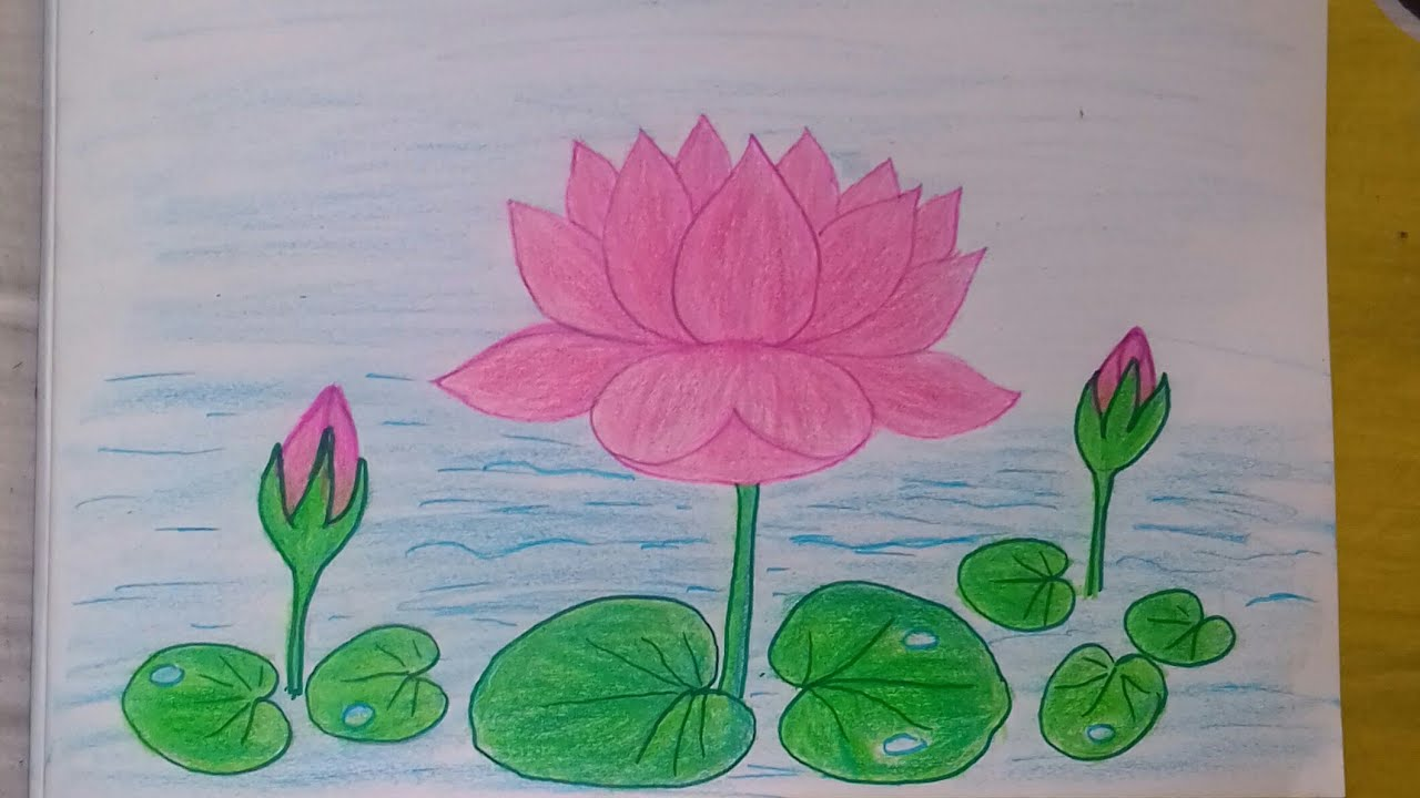 How to draw a lotus for kids step by step very easy - YouTube