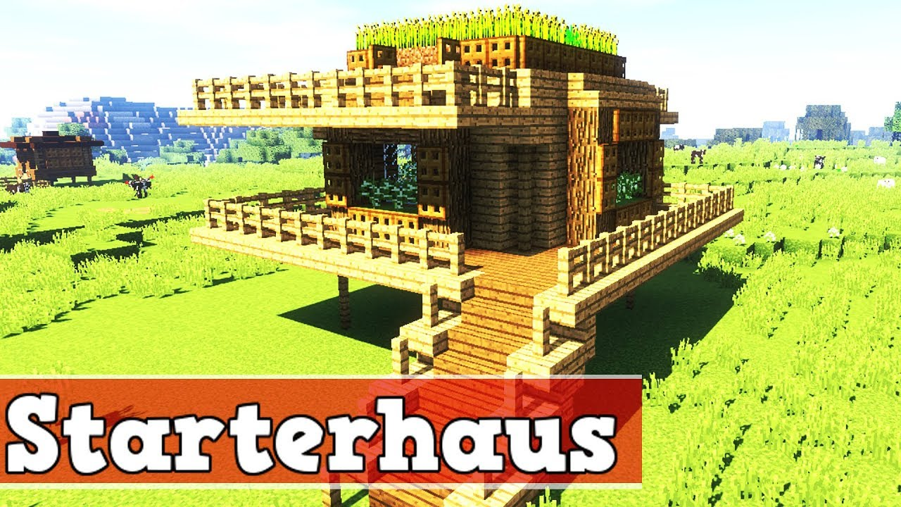 wie baut man ein starter haus in minecraft minecraft starterhaus bauen deutsch youtube. Black Bedroom Furniture Sets. Home Design Ideas
