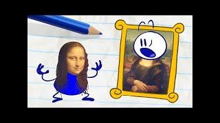[Animate] Pencilmate Destroys an Art Museum! -in- THE TELL TALE ART - Pencilmation Cartoons for Kids