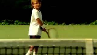 Andre Agassi & Steffi Graf - 'Son' Playing Tennis