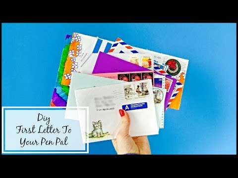 DIY - First letter To Your Pen Pal! | Cara Giulia