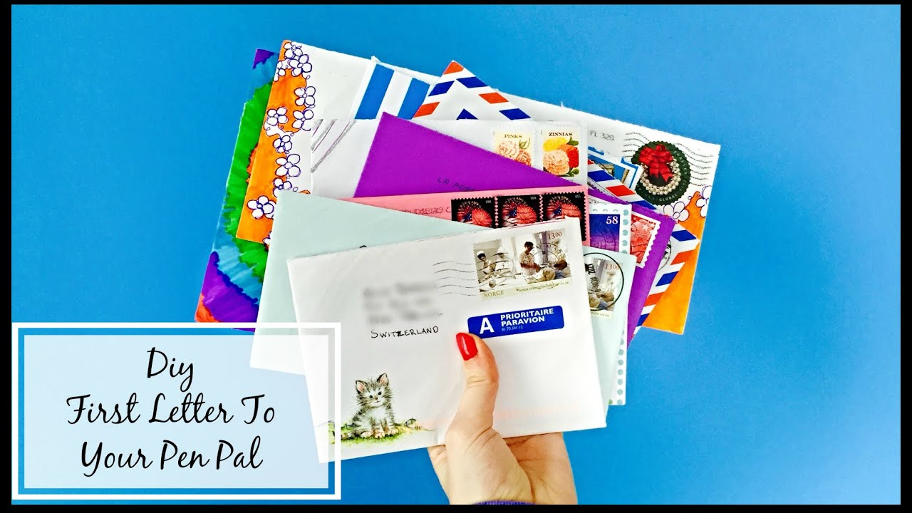 how to write a letter to a penpal for the first time