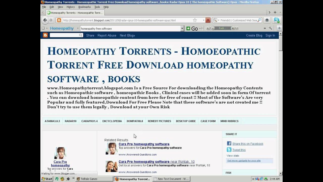 radar homeopathic software crack download free