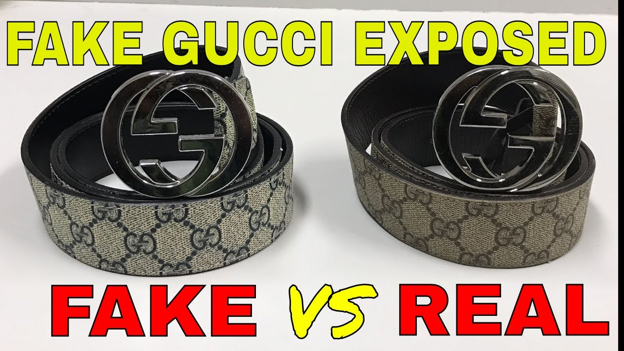 54397a7649d how to expose fake Gucci belt - YouTube