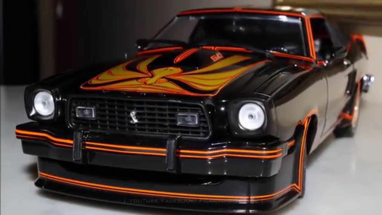 1/18 ford mustang ii king cobra (1978) blackgreenlight