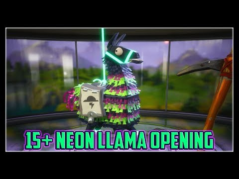 Neon Llama Opening | Fortnite Save The World