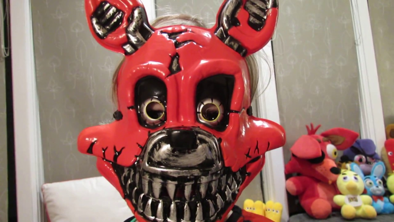 Nightmare Foxy Child Costume Unboxing Review Halloween Fnaf Five